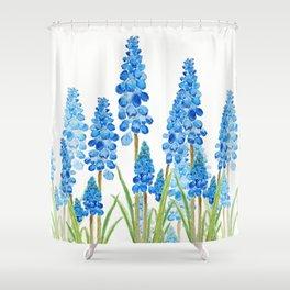 blue grape  hyacinth forest Shower Curtain
