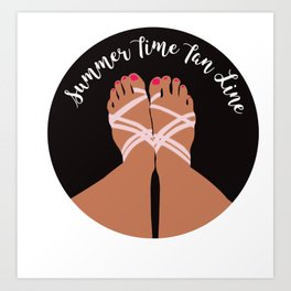 Summer Time tan lines Art Print