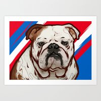 Buddy the Bull dog Art Print
