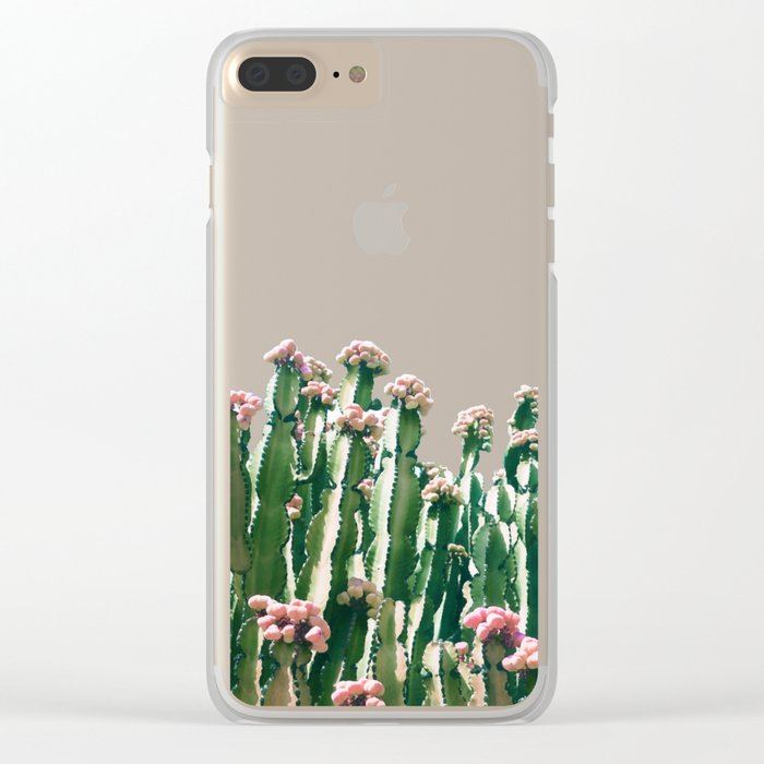 Blush Cactus #society6 #decor #buyart Clear iPhone Case