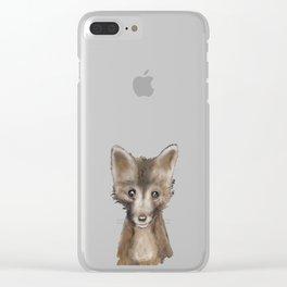 Fox Kid Clear iPhone Case