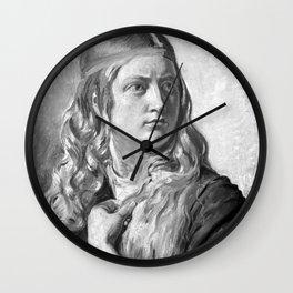 Constantin Hansen - Studie af en ung kvinde (Oline Købke) Wall Clock