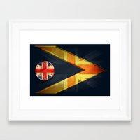 british flag Framed Art Prints featuring British by ilustrarte