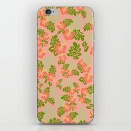 Hawaiian Pattern - Pink iPhone Skin