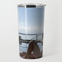 Male Poolside  Travel Mug
