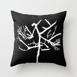 Photogram of Twigs Throw Pillow