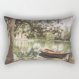Another afternoon in Villa Borghese Rectangular Pillow
