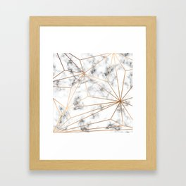 Marble & Gold 046 Framed Art Print