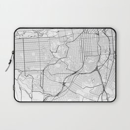 San Francisco City Map United States White and Black Laptop Sleeve