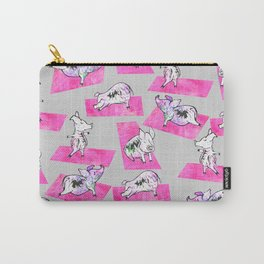 Pink Yoga Pigs - Downward Facing Hog Carry-All Pouch