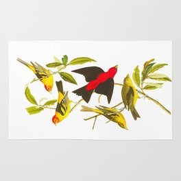 Louisiana Tanager and Scarlet Tanager Rug
