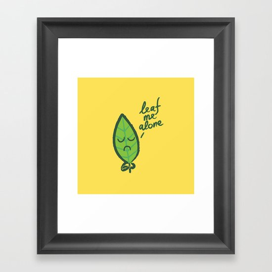 The introvert leaf Framed Art Print