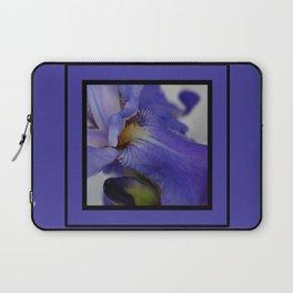 zebra iris 'tongue' (square) Laptop Sleeve