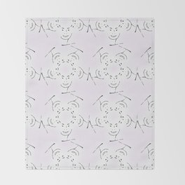 "series ""rostidade em mandala"" - lady Throw Blanket"