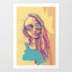 Digital Drawing #30 - Vinci Family  Art Print
