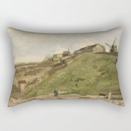 The hill of Montmartre with Stone Quarry Rectangular Pillow