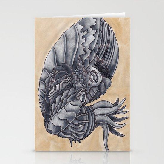 Mars Octopus Stationery Cards