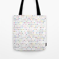 dots Tote Bags featuring Dots by Farnell