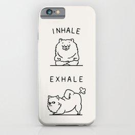 Inhale Exhale Pomeranian iPhone Case