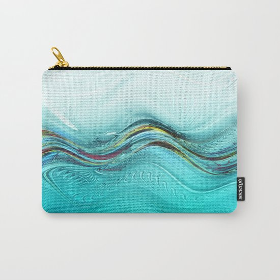 Fractal Wave Carry-All Pouch
