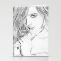 emma watson Stationery Cards featuring Emma by S'ANNie