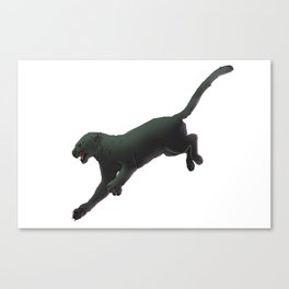 Leaping Panther Canvas Print