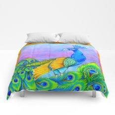 Paisley Peacock Pastels Comforters