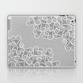 Comtemporary Abstract Leaves Grey Pattern Laptop & iPad Skin
