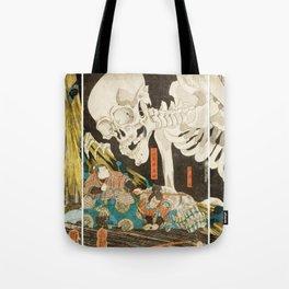 Takiyasha The Witch And The Skeleton Utagawa Kuniyoshi Tote Bag