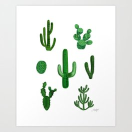 Cactus Collage Art Print