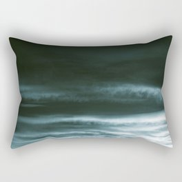 BLACK & BLUE & WHITE TOUCHING #3 #abstract #decor #art #society6 Rectangular Pillow