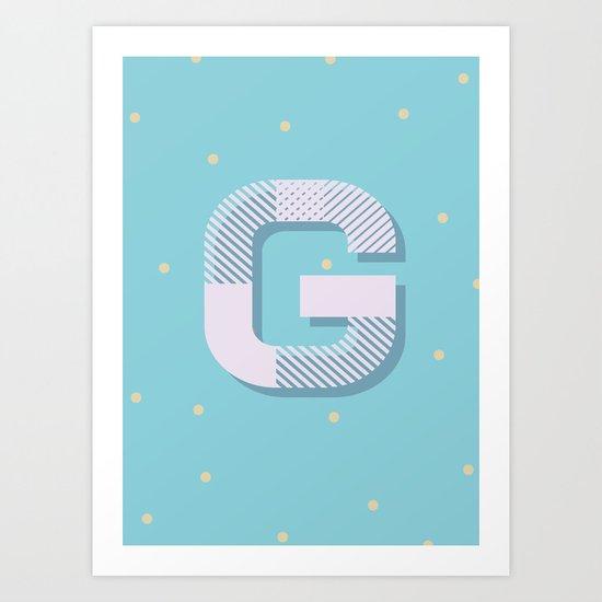 G is for Glamorous Art Print