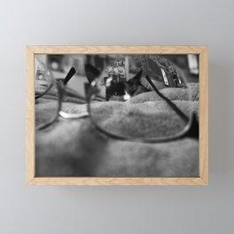 Cat Through an Eyeglass (2 of 3) Framed Mini Art Print