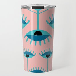 Unamused Eyes - Art Deco Travel Mug