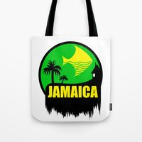 jamaica Tote Bags featuring JAMAICA VACATION  by Robleedesigns