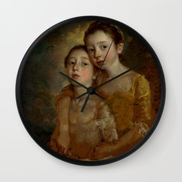 """Thomas Gainsborough """"The Painter's Daughters with a Cat"""" Wall Clock"""