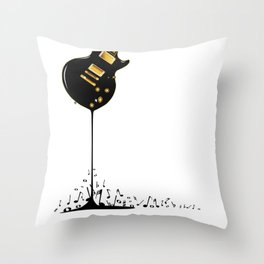 Flowing Music Throw Pillow