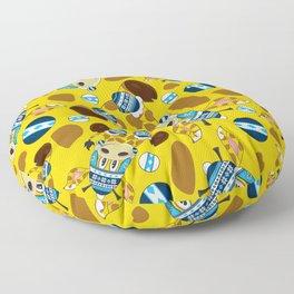Cute Cartoon Bobble Hat Giraffe Pattern Floor Pillow
