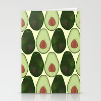 avocado Stationery Cards featuring Avocado by SarahBoltonIllustration