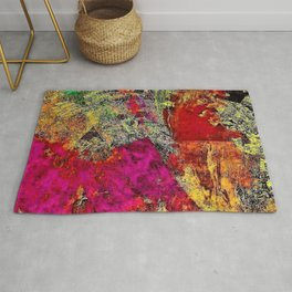 Rustic Watercolors in Abstract by Jeanpaul Ferro Rug