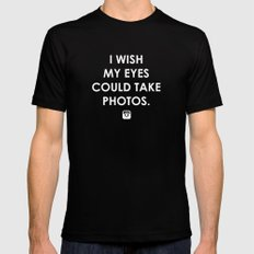 Eyes could take photos MEDIUM Black Mens Fitted Tee