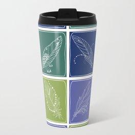 Feather Fabric Travel Mug