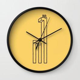 Impossibly tall Wall Clock