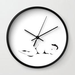 Dormant Girl Wall Clock
