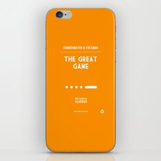 BBC Sherlock The Great Game Minimalist Poster iPhone & iPod Skin