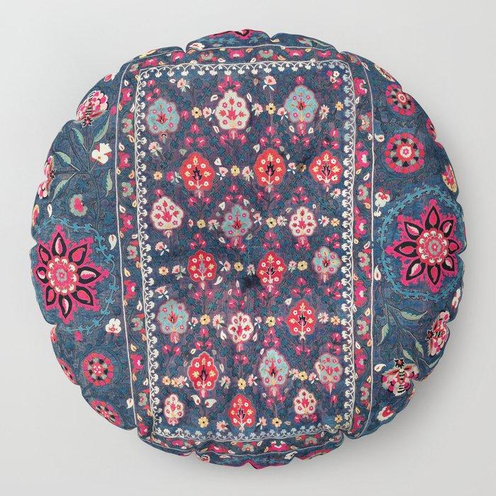 Lakai Suzani Shakhrisyabz Uzbek Embroidery Print Floor Pillow