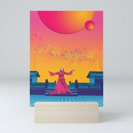 Looking light Mini Art Print
