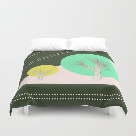 In my world forests are geometric Duvet Cover