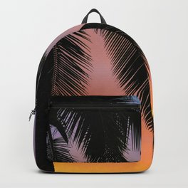 Sunset Silhouette Palm Tree (Color) Backpack
