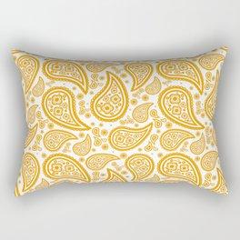 Paisley (Orange & White Pattern) Rectangular Pillow